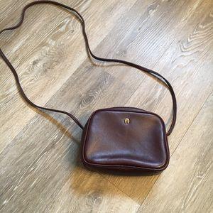 Etienne Aigner maroon crossbody bag